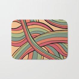 Rolling Waves Of Peachy Panic Bath Mat