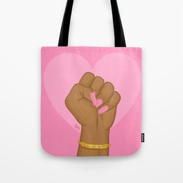 Black Lives Matter Power Fist Tote Bag