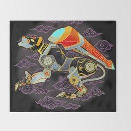 Black Lion Batik Throw Blanket