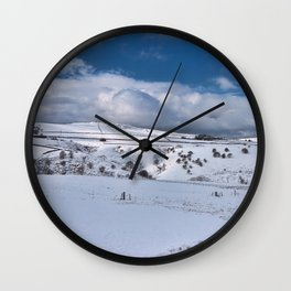 Snow in the peak district Wall Clock