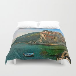Italy. Cinque Terre - Canal side Duvet Cover
