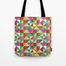 Crazy Squares Tote Bag