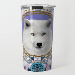 Native American Indian Wolf Spirit Travel Mug
