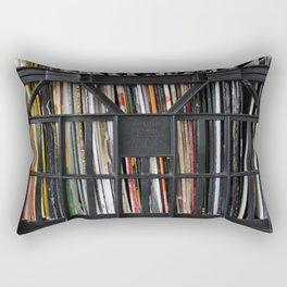 Vinyl DJ Crate Rectangular Pillow