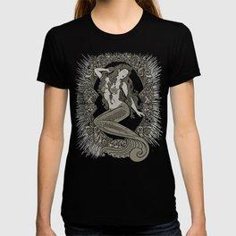 Neo Classic Mermaid Siren Sepia T-shirt