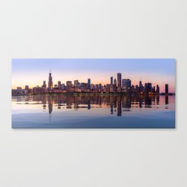 Widescreen panorama of Chicago Skyline Canvas Print