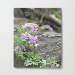 Purple Mountain Wildflowers Metal Print