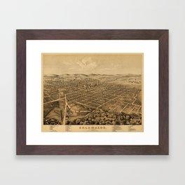Map Of Kalamazoo 1874 Framed Art Print