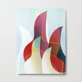 Modern Abstract Focus & Warmth Contemporary Print Metal Print