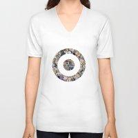 clint barton V-neck T-shirts featuring clint barton hawkguy bullseye by captainkittyspa