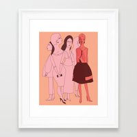 vogue Framed Art Prints featuring VOGUE by Kathryn Nyquist