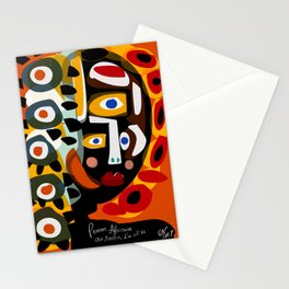 African Woman is dreaming in the sunrise Stationery Cards