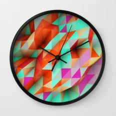 Polygons Sphere Abstract Wall Clock