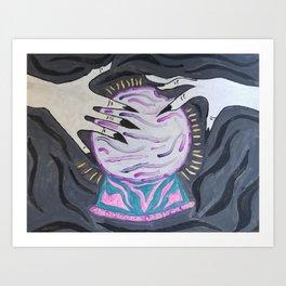 Magic crystal ball Art Print