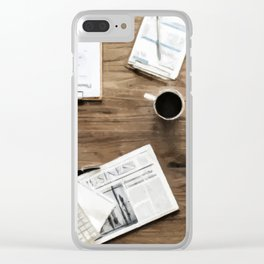 Business Work Table Clear iPhone Case