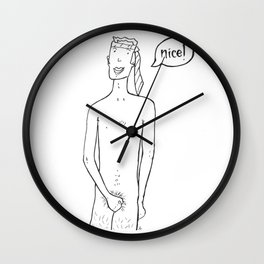 Riendo Salads in Fruit Stand Wall Clock