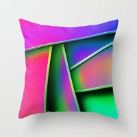 grafitti Throw Pillows featuring Grafitti by Party Peeps