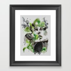 Kiss by carographic Framed Art Print