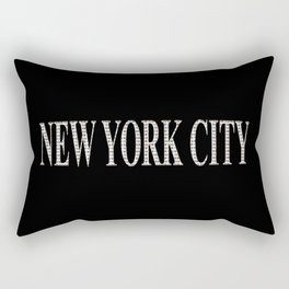 New York City (type in type on black) Rectangular Pillow