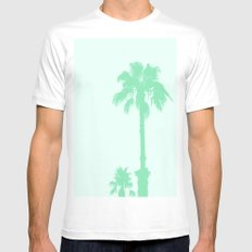 Mint Palms Mens Fitted Tee White MEDIUM