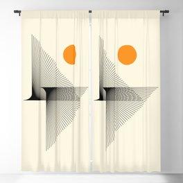 Abstraction_NEW_BIRD_FLY_LINE_POP_ART_033A Blackout Curtain