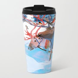 Reindeers and friends Metal Travel Mug