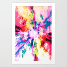 Screaming Clouds Art Print