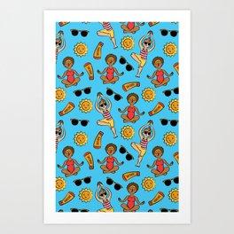 Sunbeam Stretch  Art Print