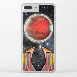 Ziggy Stardust Clear iPhone Case