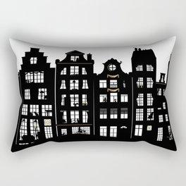 Amsterdam Canal Houses Rectangular Pillow