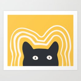 Sunshine Cat Vibes Art Print