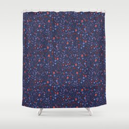 Intricate Dark Moody Floral Pattern Shower Curtain