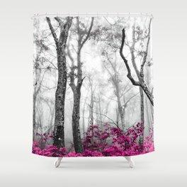 Princess Pink Forest Garden Shower Curtain