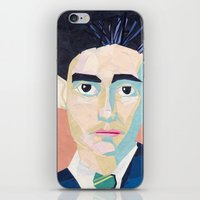 kafka iPhone & iPod Skins featuring Franz Kafka by Ellen Pater