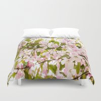 sakura Duvet Covers featuring Sakura by Jennifer Stinson