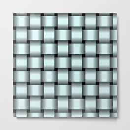 Large Light Cyan Weave Metal Print