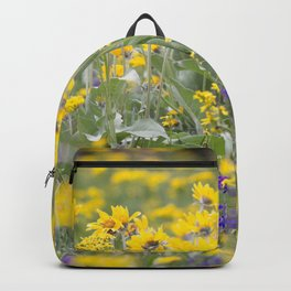 Meadow Gold - Wildflowers in a Mountain Meadow Backpack