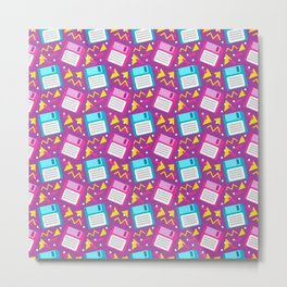 Floppy Disks Metal Print