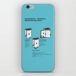 Buchbinden – Merkmale Broschur und Buch (in German) iPhone Skin