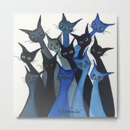 Escondido Whimsical Cats Metal Print