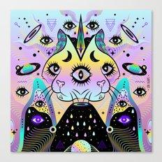 Power of Three Cats Canvas Print