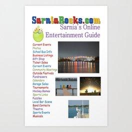 SarniaRocks T-shirt Art Print