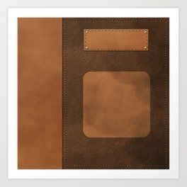 """A series of """"Covers for notebooks"""" . Brown leather. Art Print"""