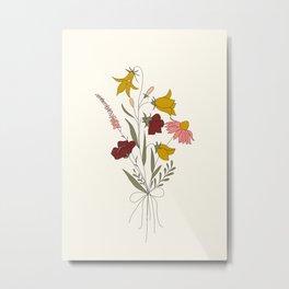 Wildflowers Bouquet Metal Print