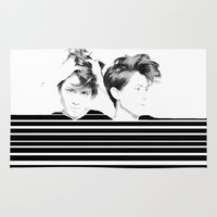 tegan and sara Area & Throw Rugs featuring Tegan & Sara by MeMRB