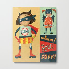 Superhero Girls Metal Print