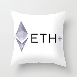 ETH PLUS Throw Pillow