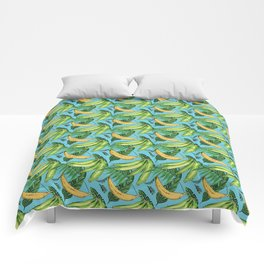 Plantain Paradise Pattern - For true plantain fans Comforters