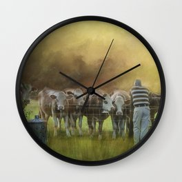 The Cow Whisperer Wall Clock