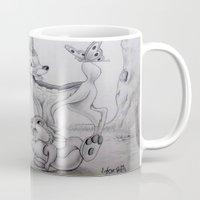 bambi Mugs featuring Bambi by Lynsie Petig
